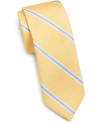 Cravate à rayures verticales jaune