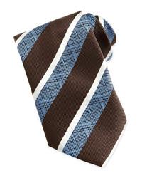 Cravate à rayures verticales marron