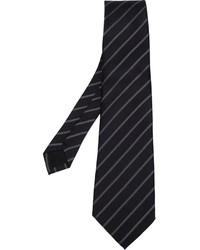 Cravate à rayures verticales noire Comme des Garcons