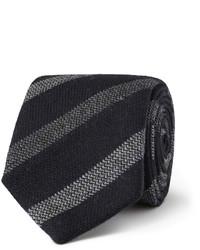 Cravate à rayures verticales noire