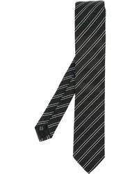 Cravate à rayures verticales noire Dolce & Gabbana