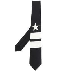 Cravate à rayures verticales noire Givenchy