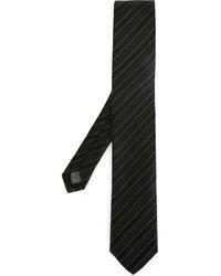 Cravate à rayures verticales noire Tonello