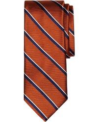 Cravate à rayures verticales orange