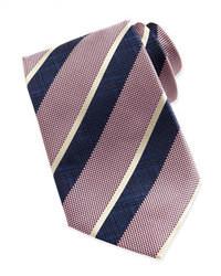 Cravate à rayures verticales rose