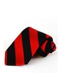 Cravate à rayures verticales rouge et noir