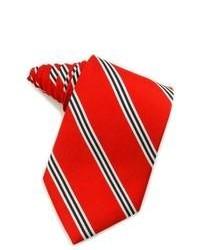 Cravate à rayures verticales rouge