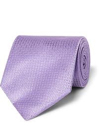 Cravate à rayures verticales violet clair