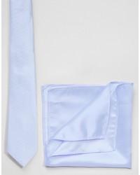 Cravate bleu clair Asos