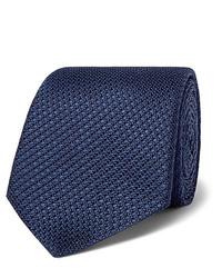 Cravate bleu marine Canali