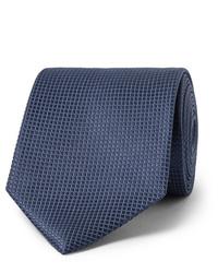 Cravate bleu marine Ermenegildo Zegna