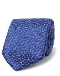 Cravate bleue Charvet