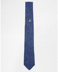 Cravate bleue Vivienne Westwood