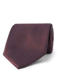 Cravate bordeaux Ermenegildo Zegna
