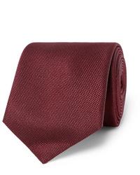 Cravate bordeaux Sulka
