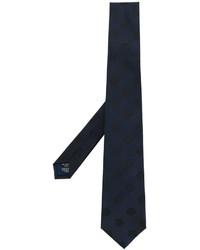 Cravate brodée bleu marine Kenzo