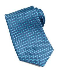 Cravate brodée bleue