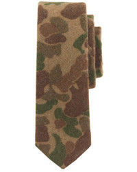 Cravate camouflage olive