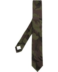 Cravate camouflage olive Valentino Garavani
