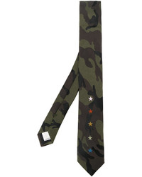 Cravate camouflage olive Valentino
