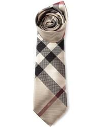 Cravate écossaise beige Burberry