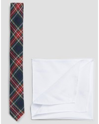 Cravate écossaise bleu marine Asos