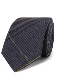 Cravate écossaise bleu marine Berluti