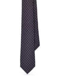 Cravate écossaise gris foncé