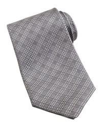 Cravate écossaise grise