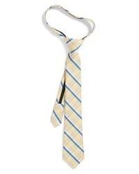 Cravate écossaise marron clair