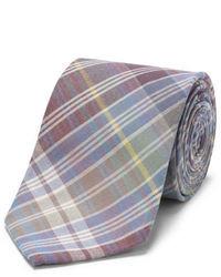 Cravate écossaise multicolore