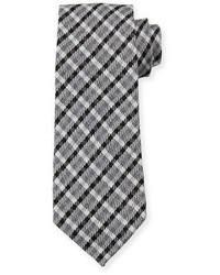 Cravate écossaise noire