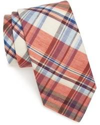 Cravate écossaise orange