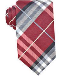 Cravate écossaise rouge