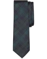 Cravate écossaise vert foncé