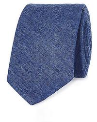 Cravate en denim bleue