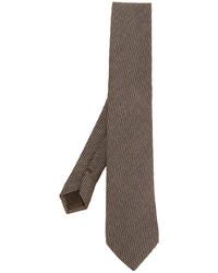 Cravate en laine à carreaux brune Church's