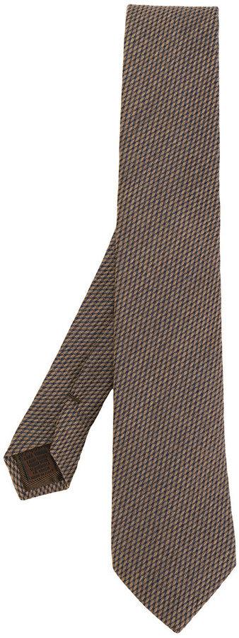 Cravate en laine à carreaux marron Church's