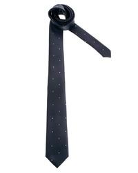 Cravate en laine á pois bleu marine et blanc Asos