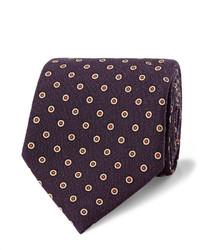Cravate en laine á pois pourpre foncé Dunhill