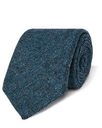 Cravate en laine bleu canard Gucci