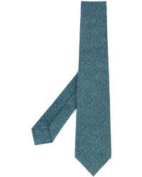 Cravate en laine bleu canard Kiton