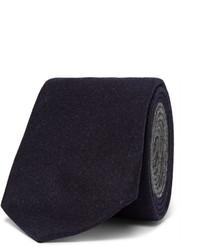 Cravate en laine bleu marine Brunello Cucinelli