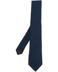 Cravate en laine bleu marine Church's