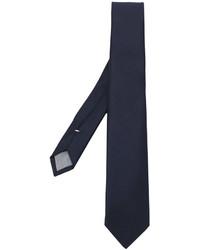 Cravate en laine bleu marine Eleventy