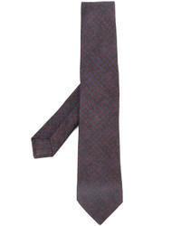 Cravate en laine bleu marine Kiton