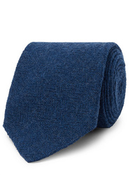 Cravate en laine bleu marine Lardini
