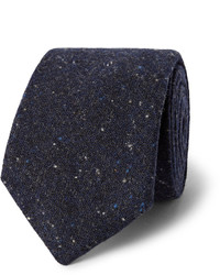 Cravate en laine bleu marine Oliver Spencer