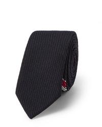 Cravate en laine bleu marine Thom Browne