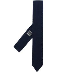 Cravate en laine bleu marine Z Zegna
